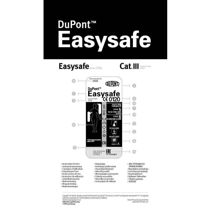 Tuta Monouso Easysafe Dupont